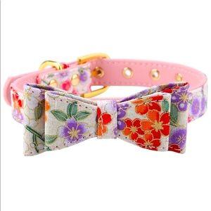 Stylish bowknot Japanese floral print collar